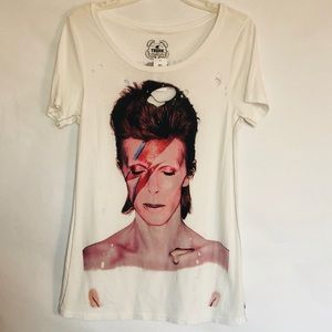 Trunk Band Distressed Tee David Bowie Women's M
